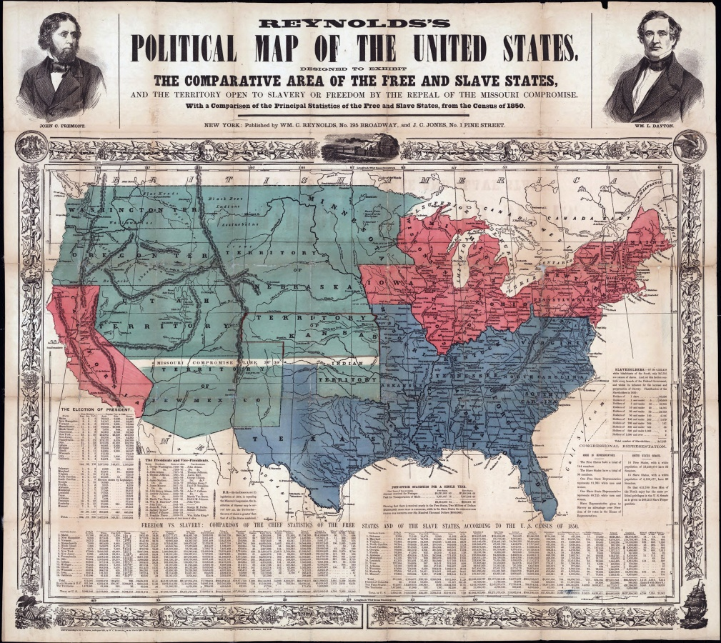 Westward Expansion And The American Civil War US History Scene - Map of the us in the civil war