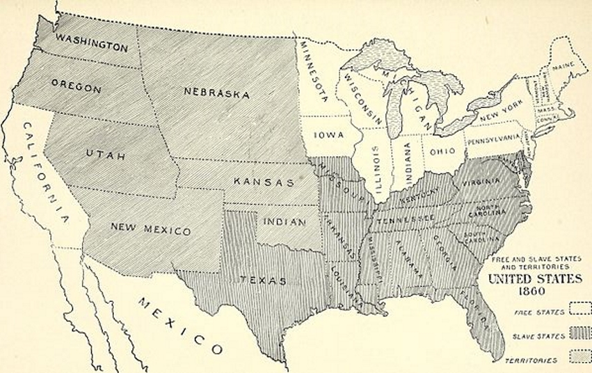 The Civil War And The Far West US History Scene - Us map of civil war battles