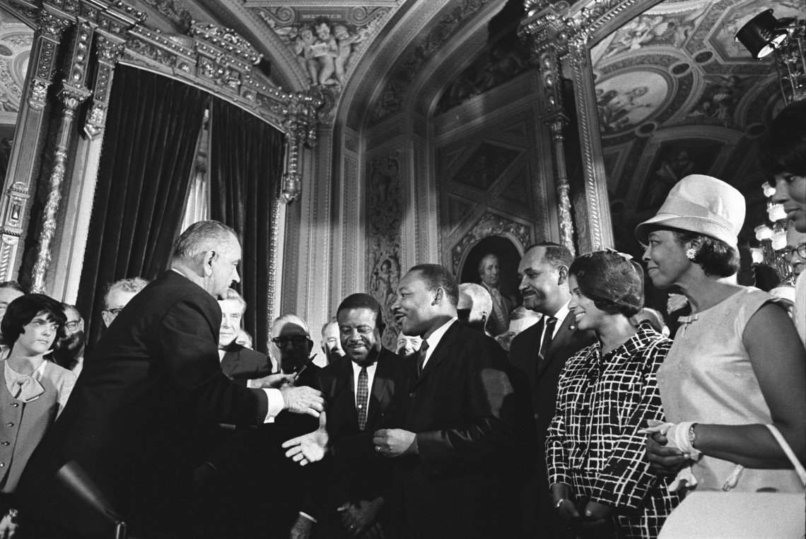 LBJ and MLK Jr - Voting Rights Act