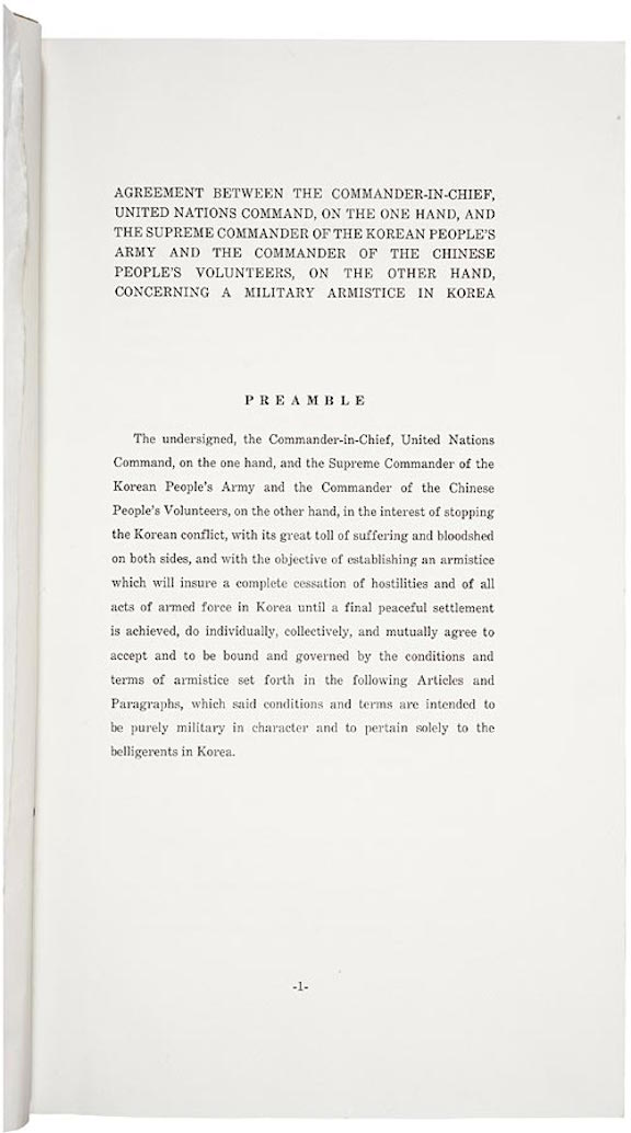 Armistice Agreement for the Restoration of the South Korean State
