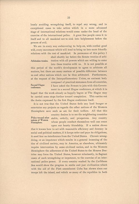 Theodore Roosevelt's Corollary to the Monroe Doctrine (1905)
