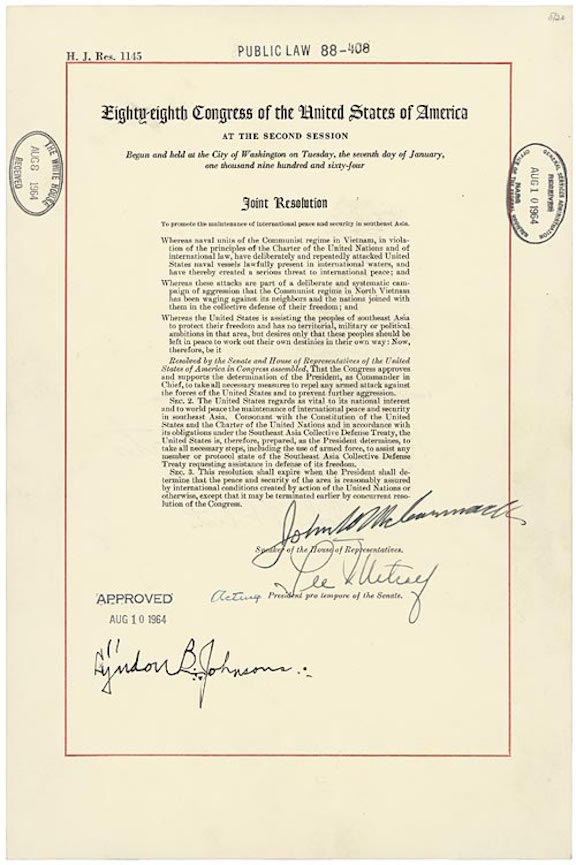 Tonkin Gulf Resolution (1964)